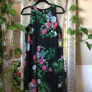 NWT XS tropical midi dress